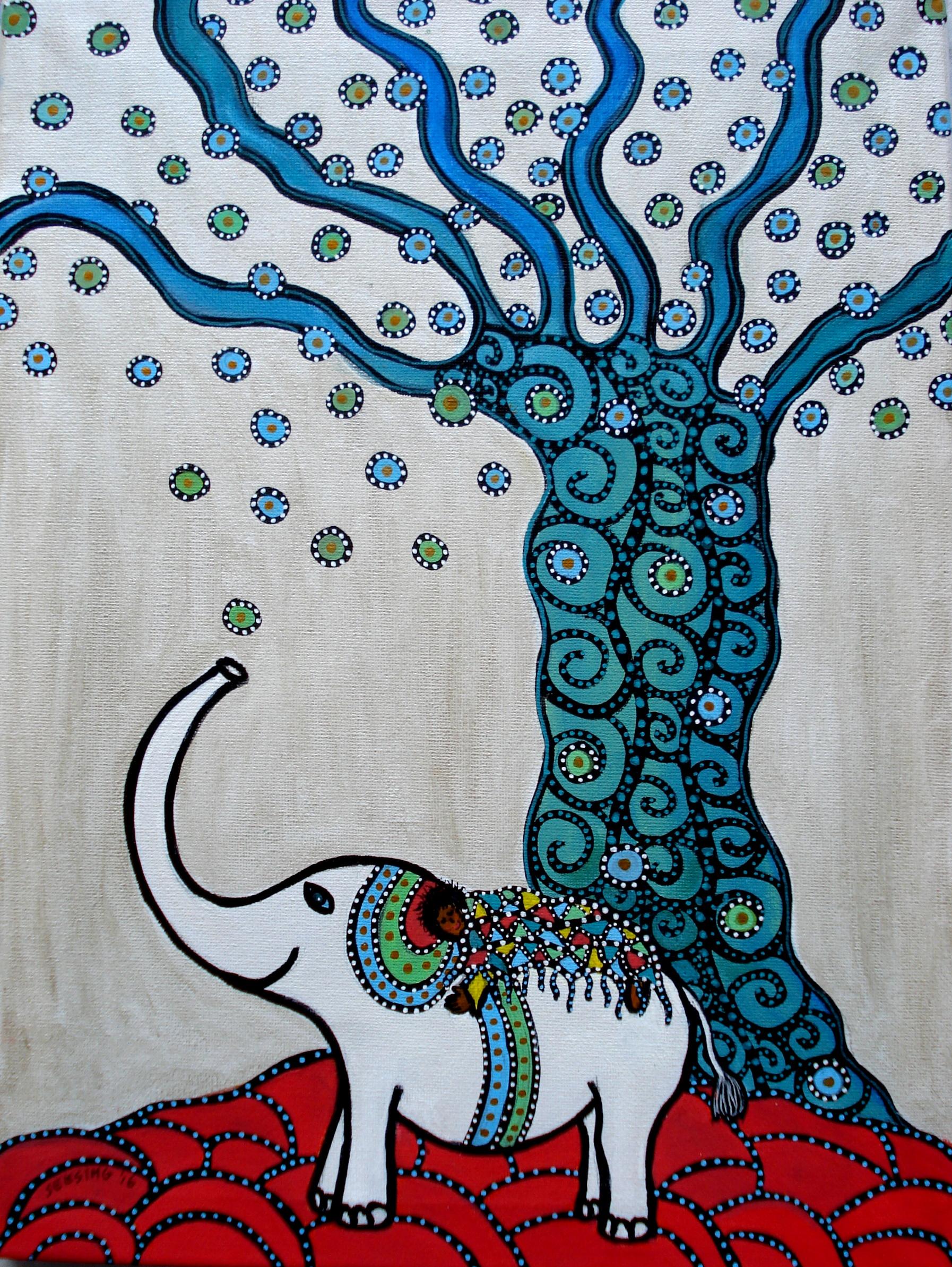 Witte olifant - Hetty Seesing