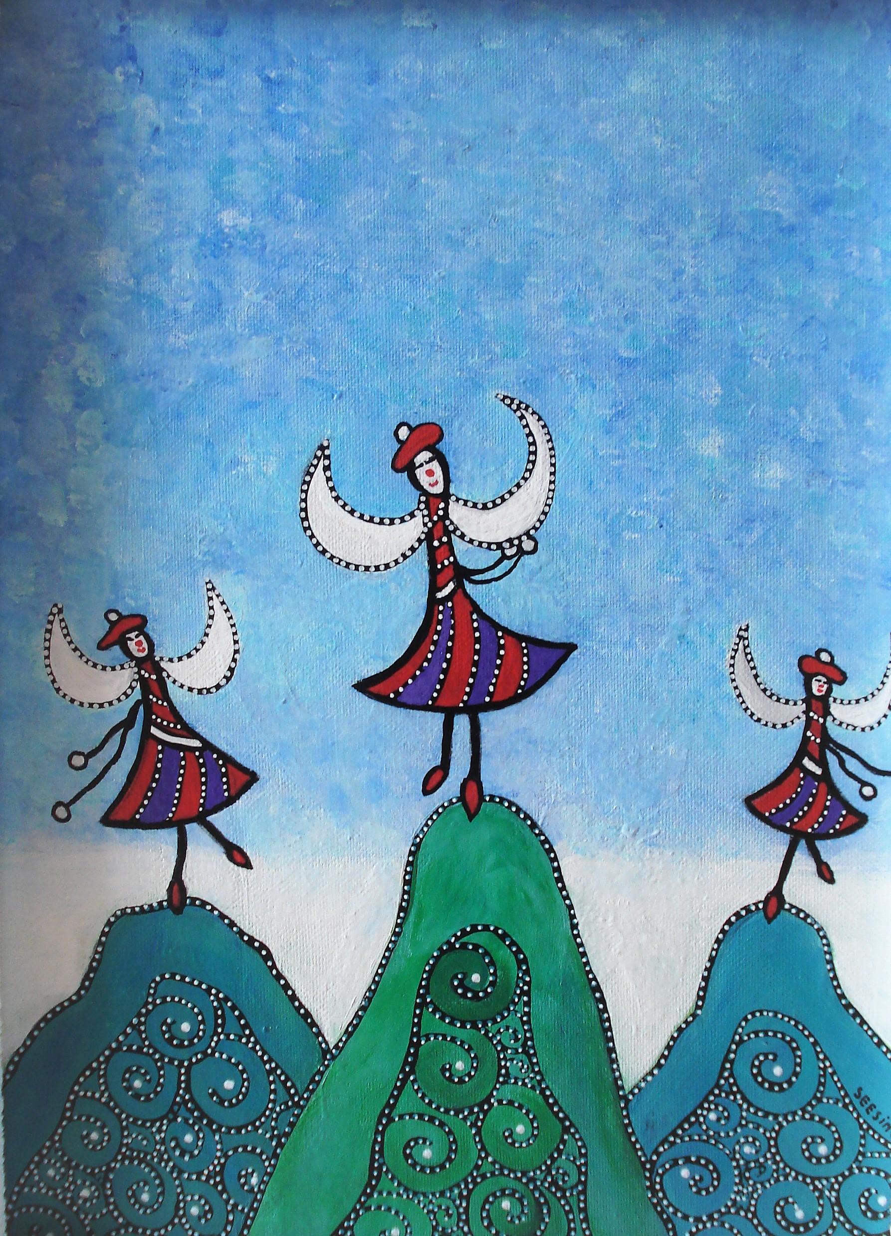 Dansende clowns -Hetty Seesing