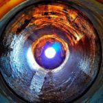 Het oog van de cilinder